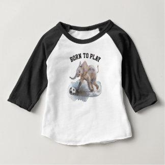 Baby 3/4 Raglan van de Olifant van het Sleeve Baby T Shirts