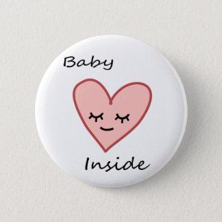 Baby binnen Leuke Roze van de Vrouw van de Knoop Ronde Button 5,7 Cm