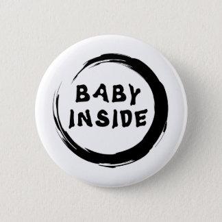 Baby binnen Moederschap Ronde Button 5,7 Cm