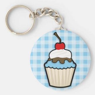Baby Blauwe Cupcake Sleutel Hangers