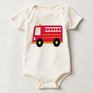 Baby Firetruck Baby Shirt
