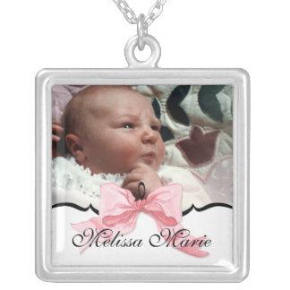 baby foto, naam & het ketting van de geboortedatum