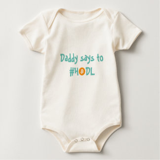 Baby #HODL Bitcoin Baby Shirt