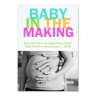 BABY IN de MAKENDE zwangerschapsaankondiging 8,9x12,7 Uitnodiging Kaart