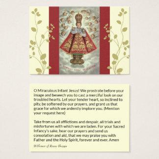 Baby Jesus van het Gebed van de Engelen van Praag Visitekaartjes