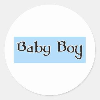 Baby-jongen-logo Ronde Sticker