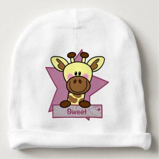 Baby mutsje met giraffe voor meisjes