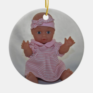 Baby - poppenOrnament Rond Keramisch Ornament