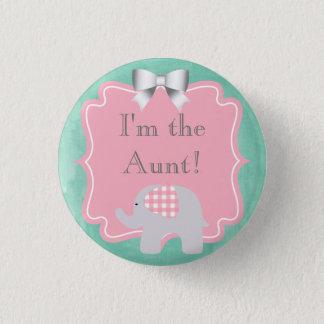 Baby shower ben ik de Tante, Zuster, Papa, Broer Ronde Button 3,2 Cm