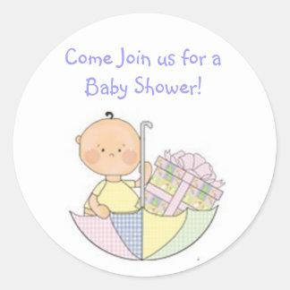 baby shower, blauw, cadeaus, leuke sticker, jongen