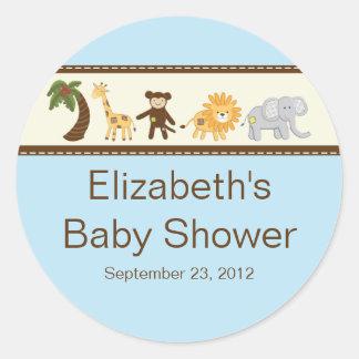 Baby shower van de Jongen van de Dieren van de Ronde Sticker