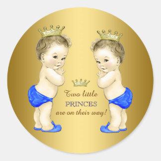 Baby shower van de Jongen van de prins het Ronde Stickers