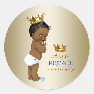 Baby shower van de Prins van het baby het Blauwe Ronde Sticker