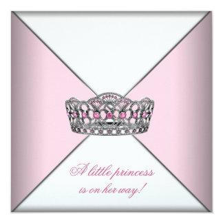 Baby shower van de Prinses van de Tiara van de 13,3x13,3 Vierkante Uitnodiging Kaart