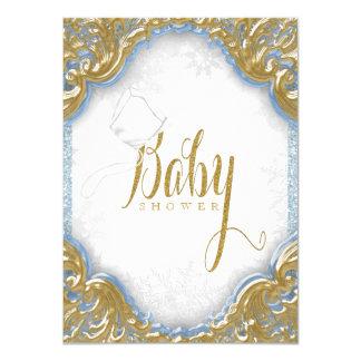 Baby shower van de Sneeuwvlok van de Jongen van 11,4x15,9 Uitnodiging Kaart