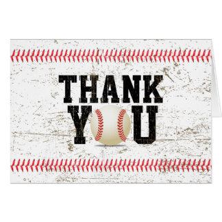 Baby shower van de Sporten van het honkbal dankt Briefkaarten 0