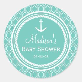 Baby shower van het Anker van Aqua het Turkooise