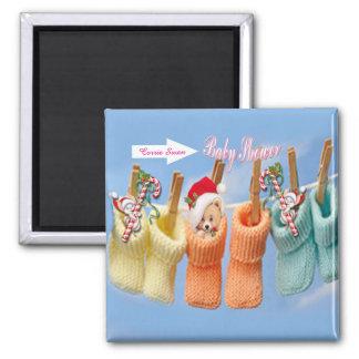 Baby shower vierkante magneet