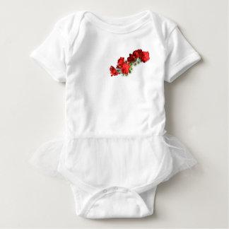 baby tutu met rode bloemen romper