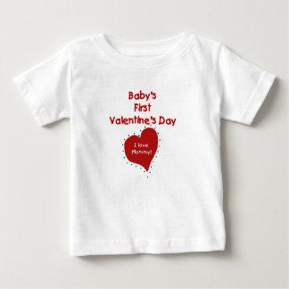 Baby Valentijn I de Mama van de Liefde Baby T Shirts