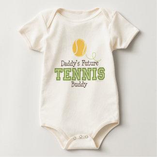 Baby van de Vriend van het Tennis van de papa het Baby Shirt