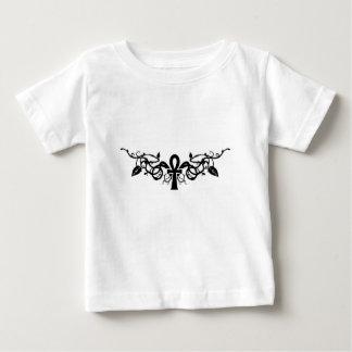 baby-versleten bloem ankh baby t shirts