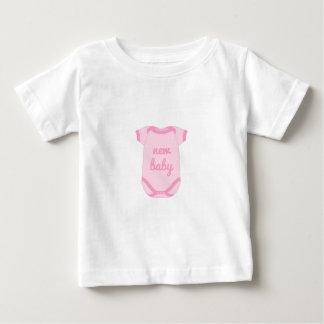 Babygro in het Roze Nieuwe Overhemd van het Baby T Shirts