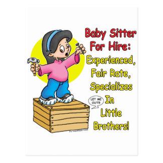 Babysitter voor Huur! Briefkaart