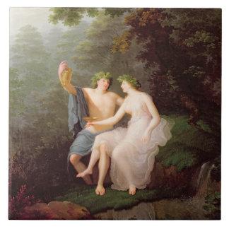 Bacchus en Ariadne Tegeltje