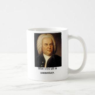 Bach, na 1750 allen is commentaar koffiemok