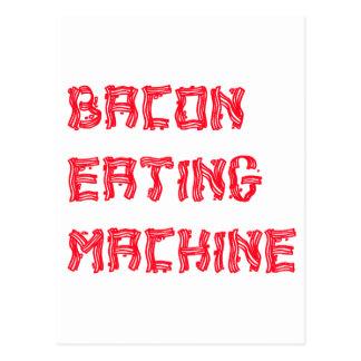 Bacon die Machine eten Briefkaart