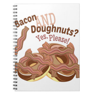 Bacon en Doughnuts Ringband Notitieboek