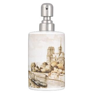 """Bad met het afbeelding dat van Notre Dame """"van de Tandenborstelhouder"""