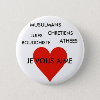 badge ANTI-RACISME Ronde Button 5,7 Cm