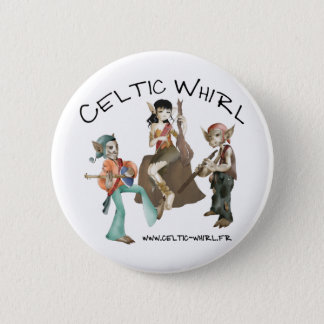 Badge Celtic Whirl Ronde Button 5,7 Cm