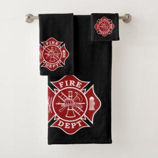 badhanddoeken reeksen met brandbestrijders Maltees Bad Handdoek