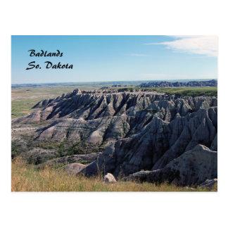 Badlands, Zuid-Dakota Briefkaart