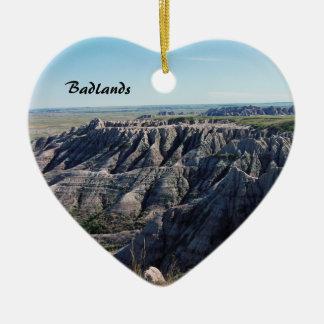 Badlands, Zuid-Dakota Keramisch Hart Ornament
