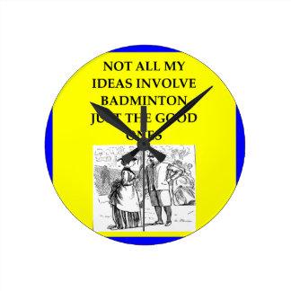 badminton ronde klok