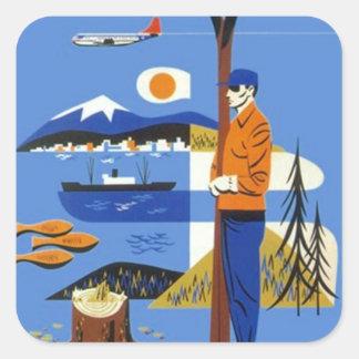Bagage van de Reis van het Noordwesten van de Vierkante Sticker