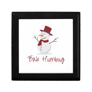 Bah Humbug - Schadelijke Sneeuwman - Kerstmis Decoratiedoosje