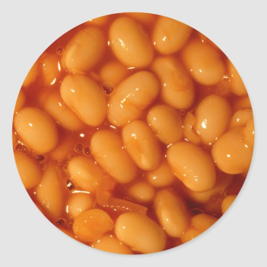 Baked Beans Ronde Sticker