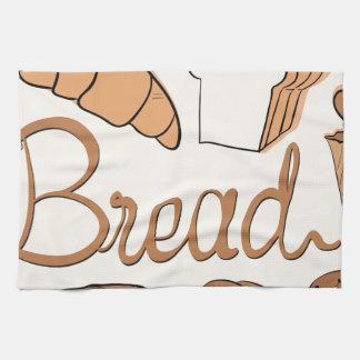 Baker en verschillend soort brood theedoek
