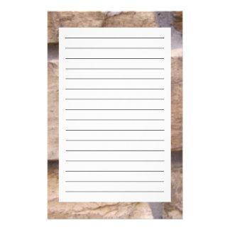 Bakstenen Gpersonaliseerd Briefpapier