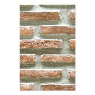 Bakstenen muur aangepast briefpapier