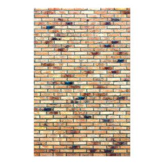 Bakstenen muur met verscheidene kleuren persoonlijk briefpapier