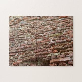 Bakstenen muur puzzel