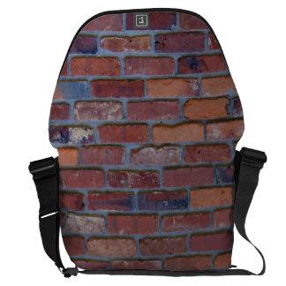 Bakstenen muur - rood gemengd bakstenen en mortier courier bags