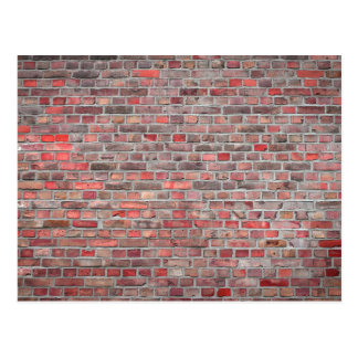 bakstenen muurachtergrond - rode vintage steen briefkaart
