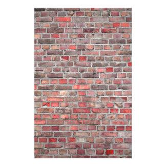 bakstenen muurachtergrond - rode vintage steen briefpapier
